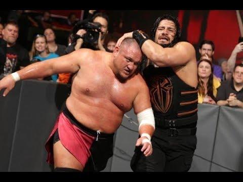 Roman Reigns Destroy Samoa Joe After Match Assault  RAW 12- 25 -2017