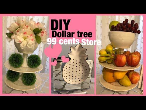 DIY como hacer un centro de mesa o frutero y decorar servilletero