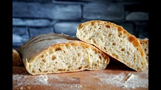 ЧИАБАТТА настоящий рецепт Итальянского хлеба чиабатта с луком
