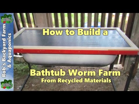 How to build a bathtub worm farm from recycled materials…