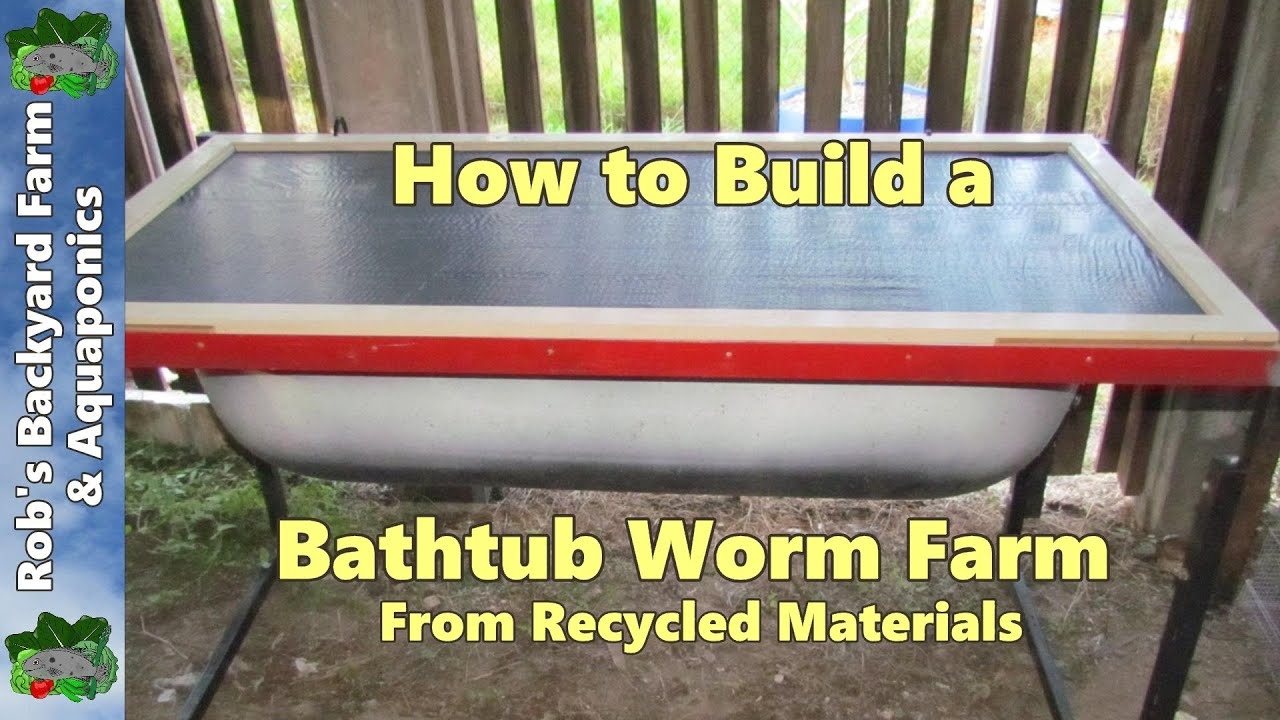 How to build a bathtub worm farm from recycled materials  YouTube
