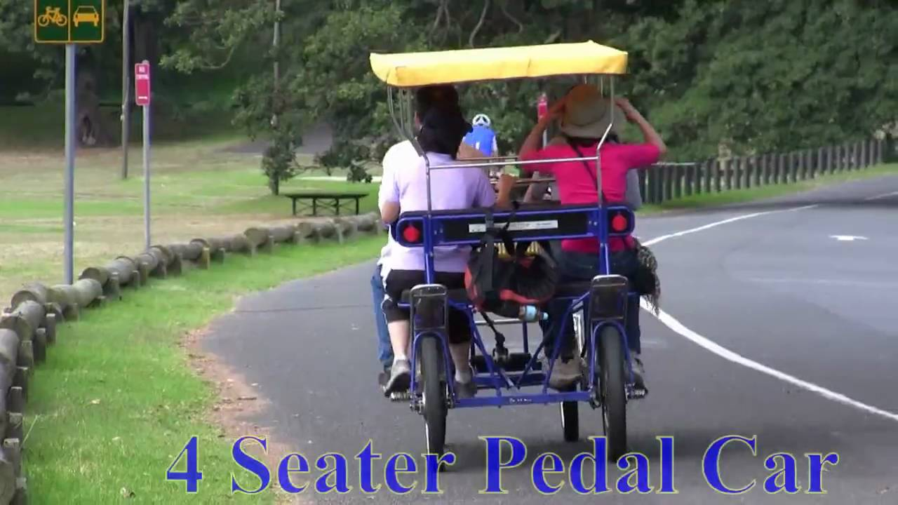 4 Seater Pedal Car - YouTube