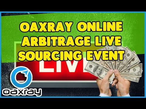 OAXRAY Online Arbitrage LIVE Sourcing Event for amazon fba sellers doing online arbitrage