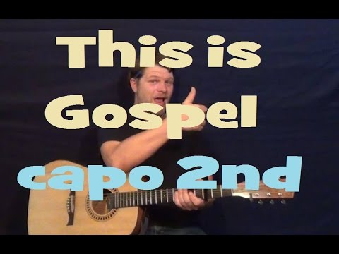 This Is Gospel (Panic! at the Disco) Guitar Lesson - Capo 2nd Fret - How to Play Tutorial