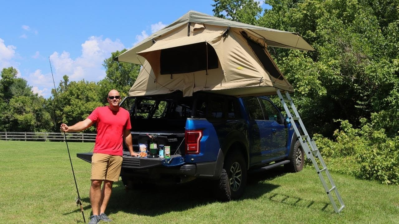 ROOFTOP TENT TRUCK CAMPING AND FISHING!