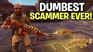 the dumbest scammer ever exposed! (Scammer Get Scammed) Fortnite Save The World