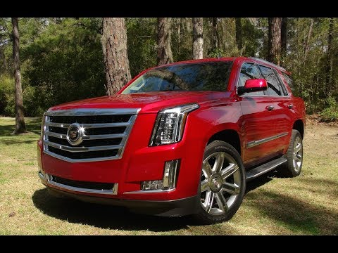 Cadillac Escalade 2018 Red >> 2015 Cadillac Escalade 0-60 MPH First Drive Review ...