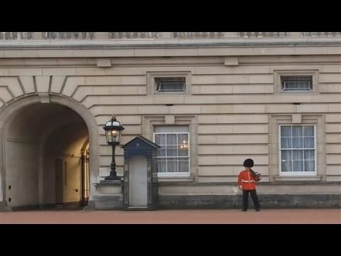 Buckingham Palace Sentry Lets His Guard Down a Bit
