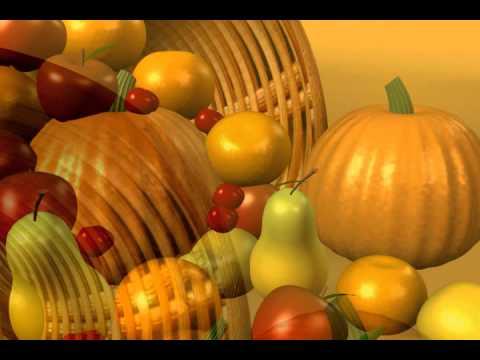 ФУТАЖ корзина с фруктами и овощами
