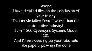 ERB Robocop Vs Terminator Lyrics