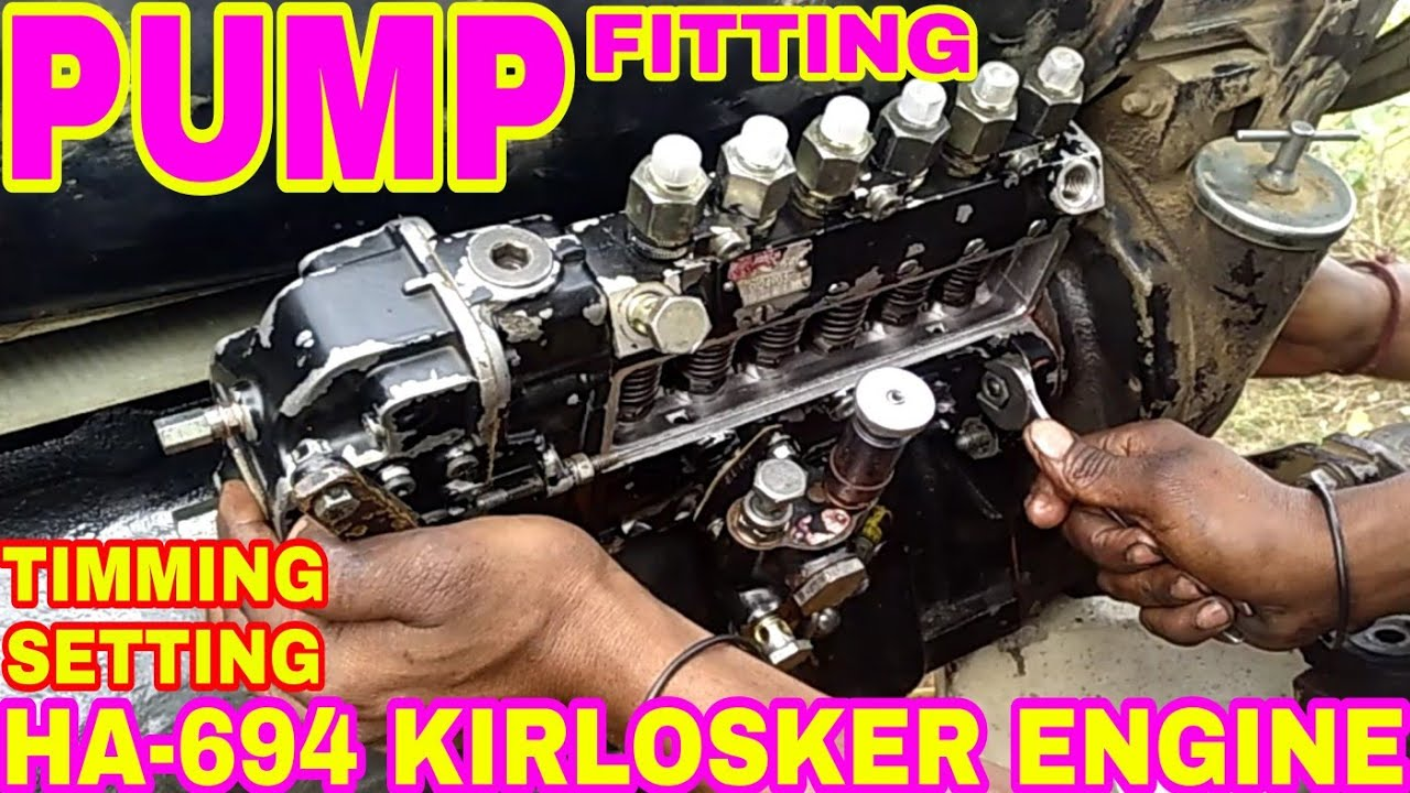 How To Tipeed setting Part-7 Kirlosker Engine 4R1040, By
