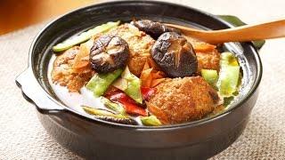 (楊桃美食網-3分鐘學做菜) 素燒獅子頭HD