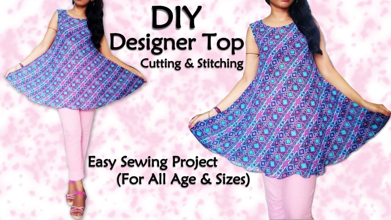 Diy designer top cutting stitching sewing for beginners youtube diy designer top cutting stitching sewing for beginners jeuxipadfo Images