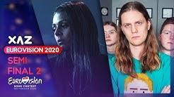 Eurovision 2020: Semi-final 2 (Recap of All Songs)