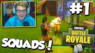 COD NOOBS PLAY FORTNITE (Squads Fortnite Battle Royale #1) - w/ RED HOUSE