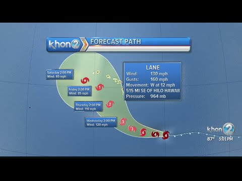 Lane remains Category 4 hurricane, may be a threat to the islands later this week