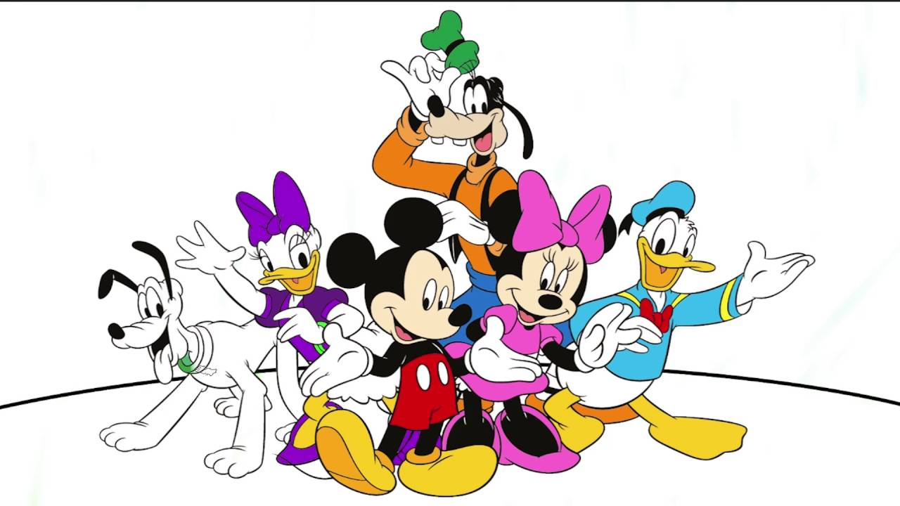 Mickey And Mini Mouse Coloring Page 2