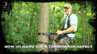 Hanging Treestands And Staying Safe With Hunter Safety System