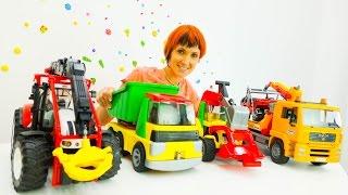Большие машины в детском саду. Видео с игрушками