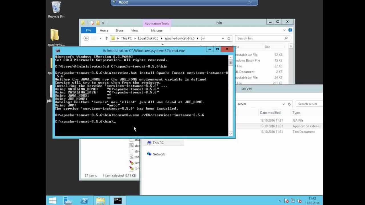 how to run apache tomcat server
