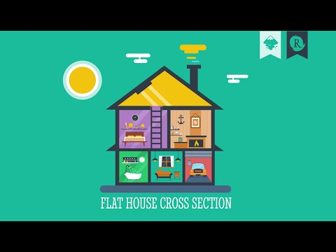 Inkscape Infographic: Flat House Cross Section