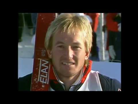 Alpine Skiing World Cup slalom 1 run november 1983 in Gällivare, Sweden