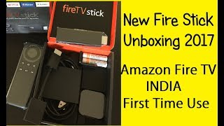 Amazon Fire Stick unboxing and first  use 2017
