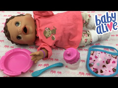 Feeding Baby Alive Changing Time Doll Olivia