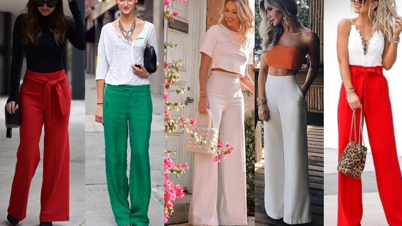 Pantalones Moda 2021 Pantalones De Moda 2021 Estilo Palazo Las Nuevas Tendencias De Pantalon 2021 Youtube