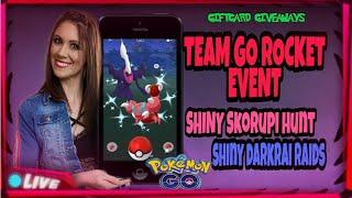 !LIVE POKEMON GO W/ fun&crazy sunny! Got 6 shiny! hunt for shiny skorupi & darkria!giftcard giveaway
