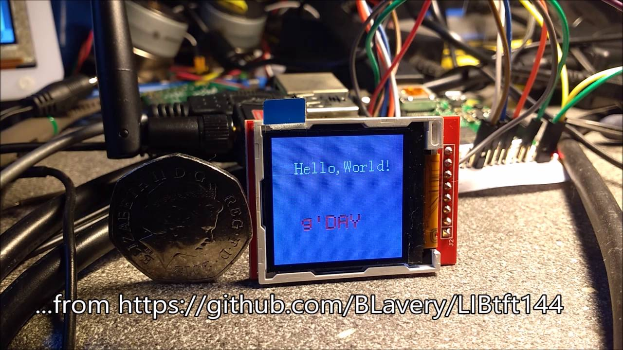Raspberry Pi running a 1 44` SPI TFT by Mark Benson
