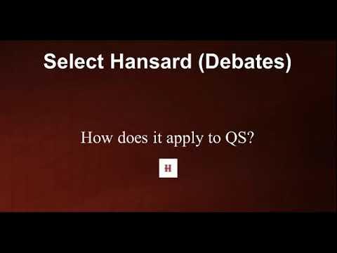 Hansard Tutorial