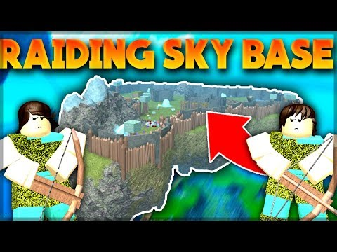NOOBS RAID HUGE SKY BASE (Armour Challenge) | Roblox: Booga Booga