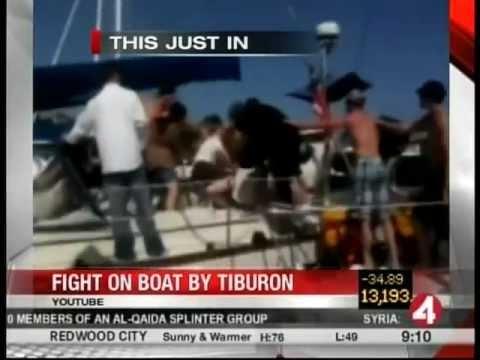 Tiburon White Trash Boat Fight