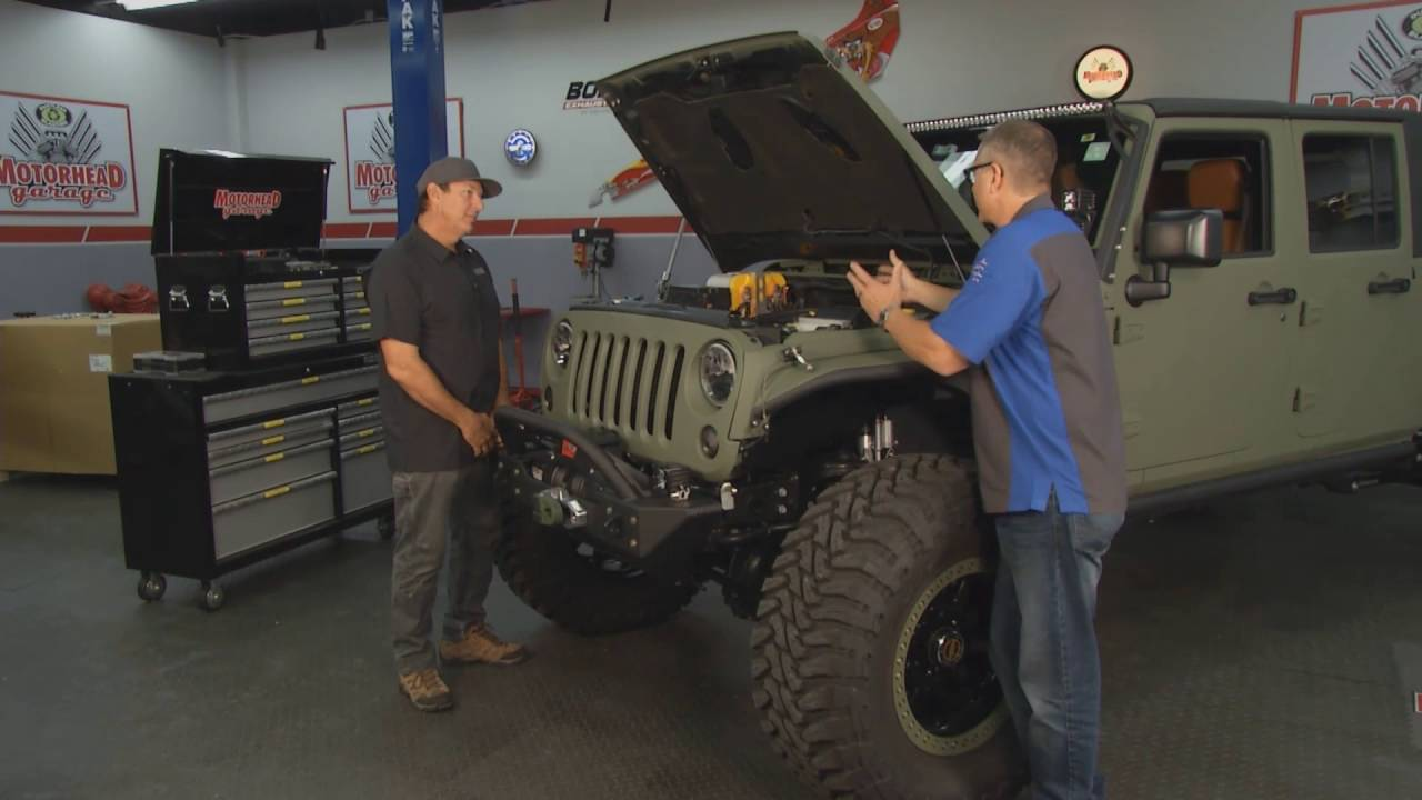 Jeep Wrangler LS Integration  Motorhead Garage Episode 1616 with Bruiser Conversions  YouTube