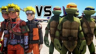 The battle between Teenage Mutant Ninja Turtles and Naruto takes pl...