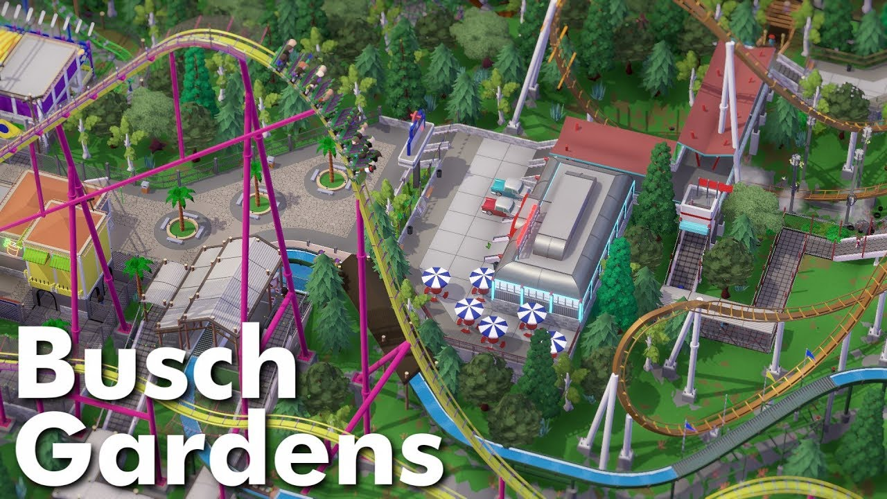 Parkitect Park Showcase Busch Gardens By Coasterb Youtube
