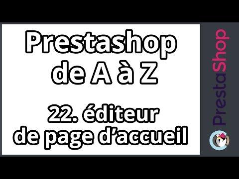 Prestashop de A à Z – Editeur de page d'accueil (ép.22)