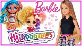 Barbie Fryzjerka & Hairdorables • Nowe fryzury dla laleczek • bajki dla dzieci