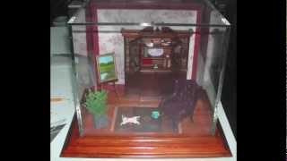 This is a video describing how to make a museum quality display box for miniature furniture or other collectables. It gives detailed ...