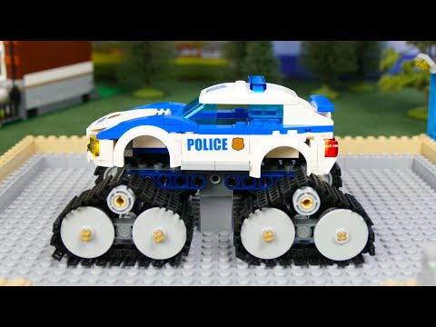 Lego Police Cars, Crane, Trucks & Excavator Toy Vehicles  For Kids