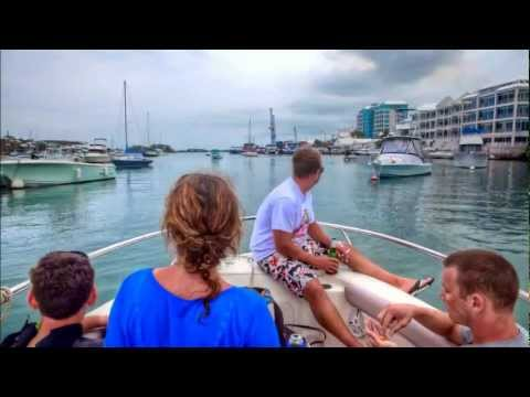 Hamilton Harbour, Bermuda, Post Wakeboarding Cruise Time-Lap