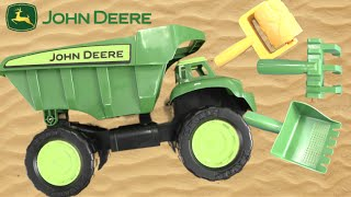 John Deere Big Scoop Dump Truck with Sandbox Toys from TOMY