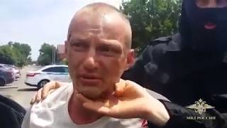 Оперативное видео задержания грабителя ювелирного магазина в Камышине