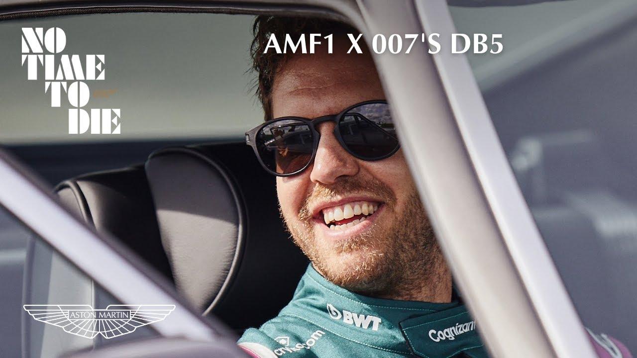 Sebastian Vettel and Lance Stroll try 007's iconic Aston Martins - Aston Martin