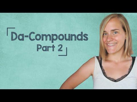 German Lesson (283) - Da Compounds - Part 2: damit - 25 Examples - B1