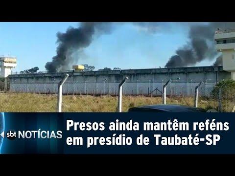 Rebelião em Taubaté continua, mas reféns estão sendo liberados   SBT Notícias (09/08/18)