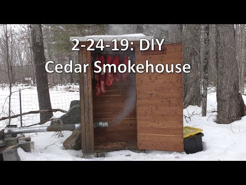 Tarr's Journal 2-24-19: DIY Cedar Smokehouse