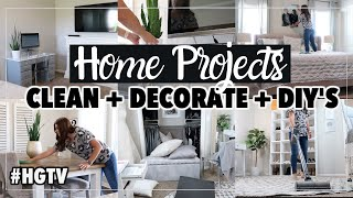 Modern Farmhouse Decorating On A Budget | Messy Room Clean With Me | Diy Home Projects