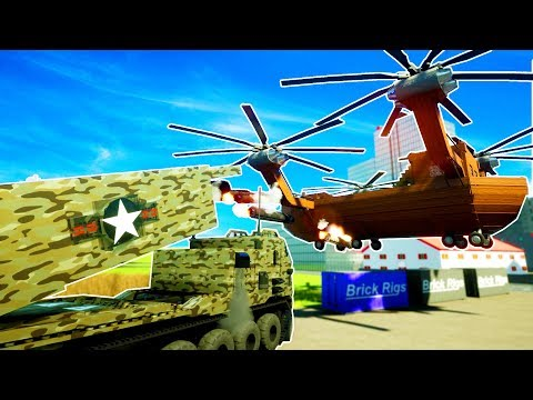 HUGE ROCKET TRUCK SHOOTS DOWN FLYING PIRATE SHIP! - Brick Rigs Workshop Creations Gameplay